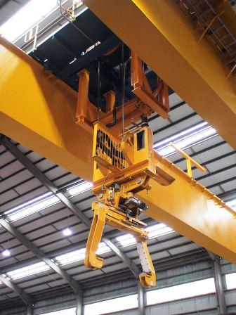 Horizontal Coil Tong with Double Rack and Pinion at fully automated crane